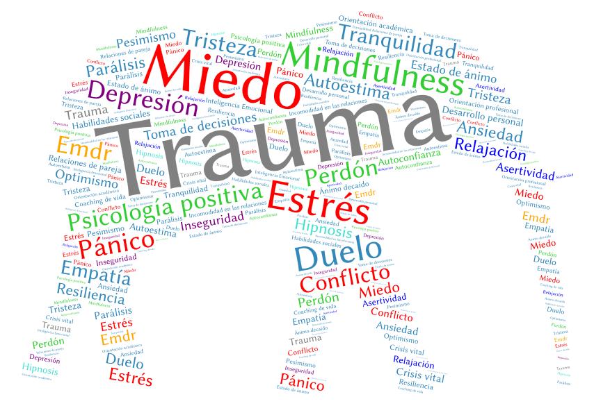 Psicología y terapia: duelo, trauma, estrés postraumático, sanación de relaciones dolorosas, por ejemplo con padres.